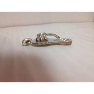 Jewelry - Blue enameled gems sandal flip flop charm